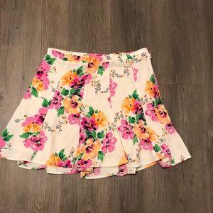 Show Me Your MuMu Floral Skirt